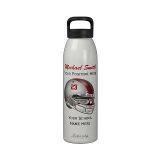 Botella gris de la libertad del casco de fútbol am botellas de beber