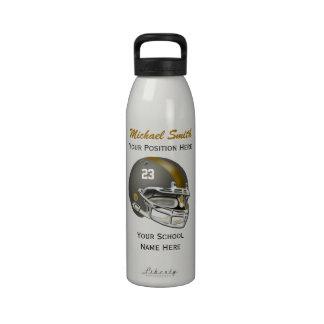Botella gris de la libertad del casco de fútbol am botella de beber