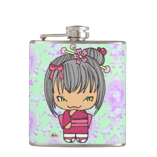 botella japonesa del frasco de la muñeca del petaca