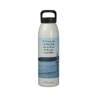Botella lisa del mensaje de la navegación botella de agua