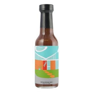 Botella moderna de la salsa caliente de la casa salsa picante