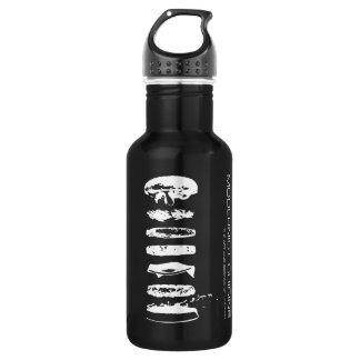 Botella modernista de HamburgerWater de la