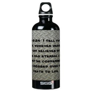 Botella negra plateada diamante de Watter del 5:24