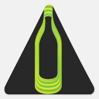 botella calcomanías triangulos personalizadas