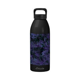 Botella púrpura de la libertad del carbón de leña  botellas de agua reutilizables