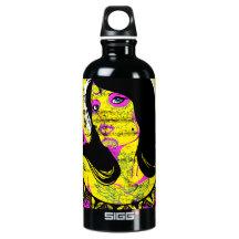 Botella púrpura de la señora