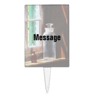 Botella reactiva y pequeña botella de Brown Decoración De Tarta