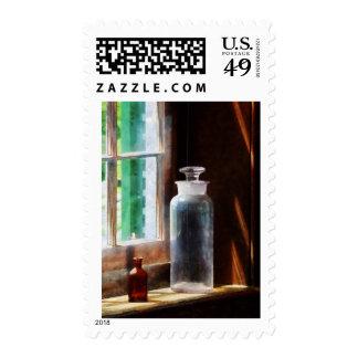 Botella reactiva y pequeña botella de Brown Sellos