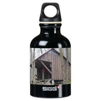 Botella reutilizable del rastro apalache de madera