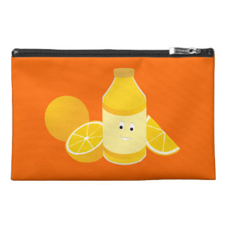 Botella sonriente del zumo de naranja