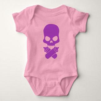 ¡Botella tóxica - en púrpura! Mameluco De Bebé