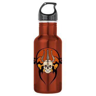 Botella tribal del diseño del cráneo 32 onzas