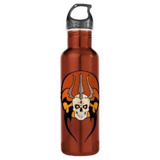 Botella tribal del diseño del cráneo