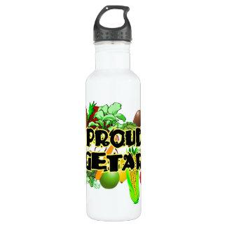 Botella vegetariana orgullosa de la libertad