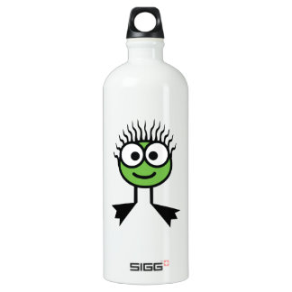 Botella verde de la bebida del carácter de la