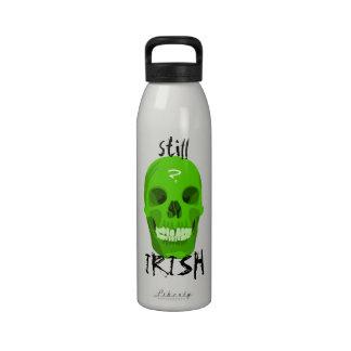 Botella verde de la libertad del cráneo botellas de agua reutilizables