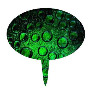 botella-vidrio verde decoraciones de tartas