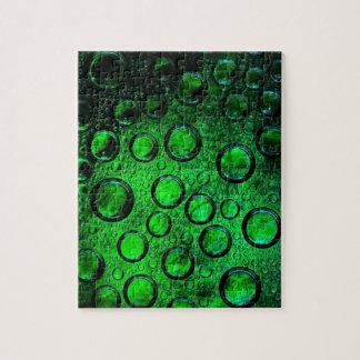 botella-vidrio verde rompecabeza con fotos