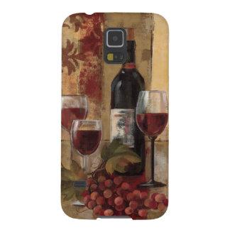 Botella y copas de vino de vino carcasa para galaxy s5