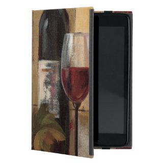 Botella y copas de vino de vino iPad mini protectores