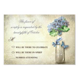 botella y flores de vino del vintage que casan el invitación 8,9 x 12,7 cm