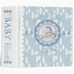 Botella y libro de la memoria del bebé del pacific
