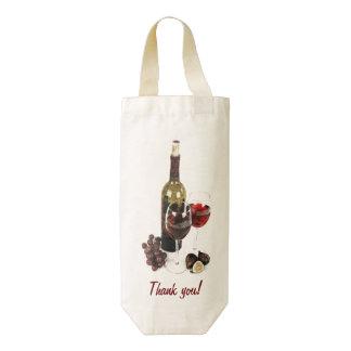 Botella y uvas de copas de vino bolsa para botella de vino zazzle HEART