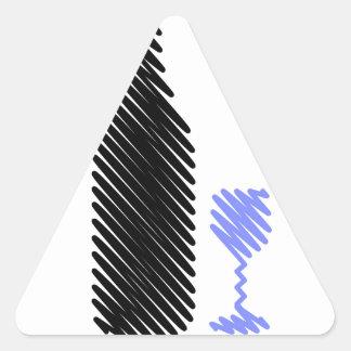 Botella y vidrio bosquejados calcomanías trianguloes personalizadas