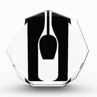 Botella y vidrio de la ilusión