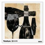 Botella y vidrio de vino