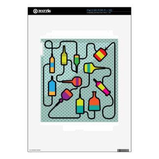 Botellas abstractas calcomanía para iPad 2