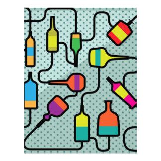 Botellas abstractas membrete a diseño