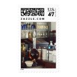 Botellas antiguas de la farmacia sello postal