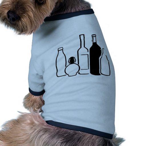 Botellas Camiseta Con Mangas Para Perro