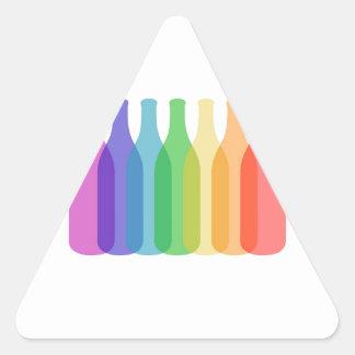Botellas coloridas gráficas colcomanias triangulo personalizadas