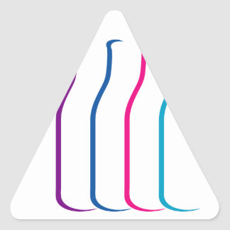 botellas coloridas pegatinas de trianguladas
