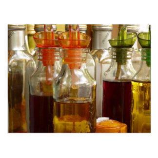 Botellas de aceite del vintage postales