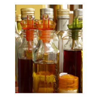 Botellas de aceite del vintage tarjetas postales