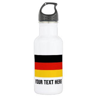 Botellas de agua alemanas de encargo de la bandera