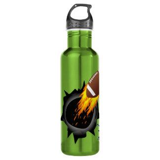 Botellas de agua ardientes del fútbol