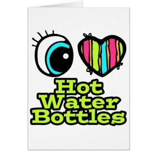 Botellas de agua calientes del ojo del amor tarjeta de felicitación