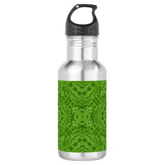 Botellas de agua coloridas verdes que van