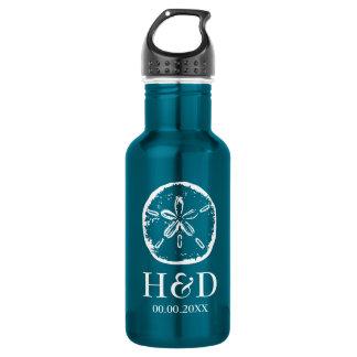 Botellas de agua de encargo del boda de playa del
