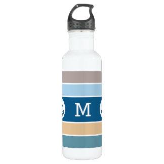 Botellas de agua de encargo del monograma de las
