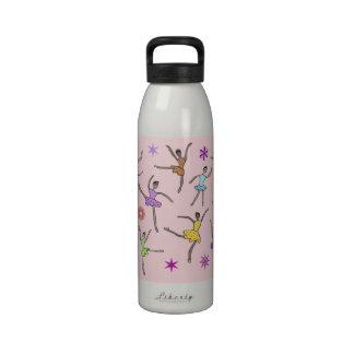 Botellas de agua de la danza del ballet botallas de agua