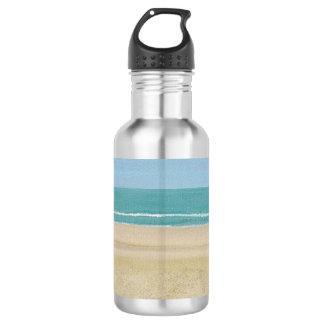 Botellas de agua de la pintura de escena de la