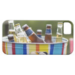 Botellas de cerveza en cubo de hielo funda para iPhone SE/5/5s