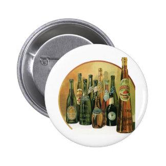 Botellas de cerveza importadas vintage, alcohol, b pins