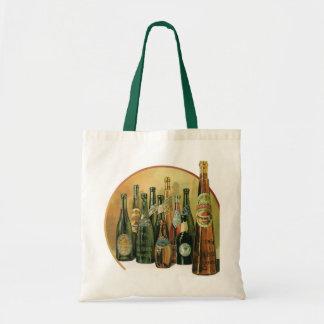Botellas de cerveza importadas vintage, alcohol, bolsa tela barata