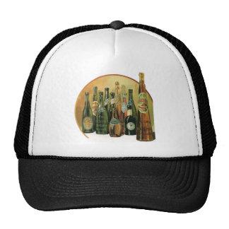 Botellas de cerveza importadas vintage, alcohol, gorras de camionero